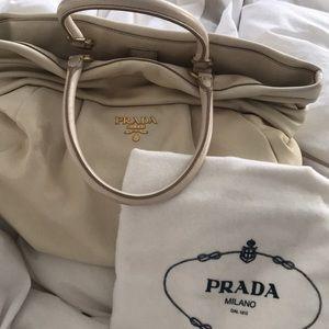 100% authentic Prada Nappa frills Bag